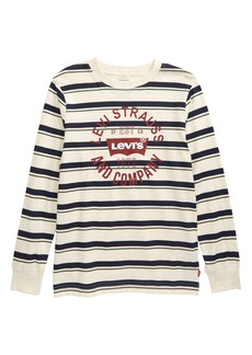 Levi's® Kids' Stripe Long Sleeve Logo Graphic Tee (Big Boy)
