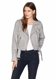 Levi's Ladies Outerwear Women's Faux Suede Asymmetrical Belted Motorcycle Jacket