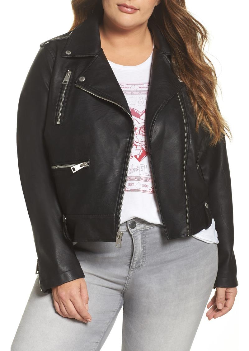 4a8b447542e Levi s Levi s® Lamb Touch Faux Leather Moto Jacket (Plus Size ...