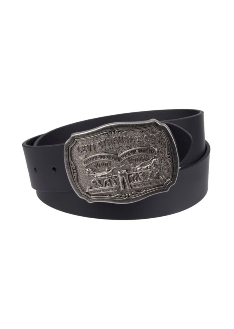 Levi's Leather Men's Belt with Plaque Buckle