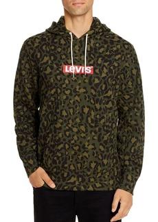 Levi's Leopard-Print Logo Graphic Hooded Sweatshirt