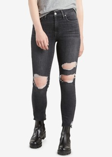 Levi's Limited 721 Fringe-Trim Skinny Ankle Jeans, Created for Macy's