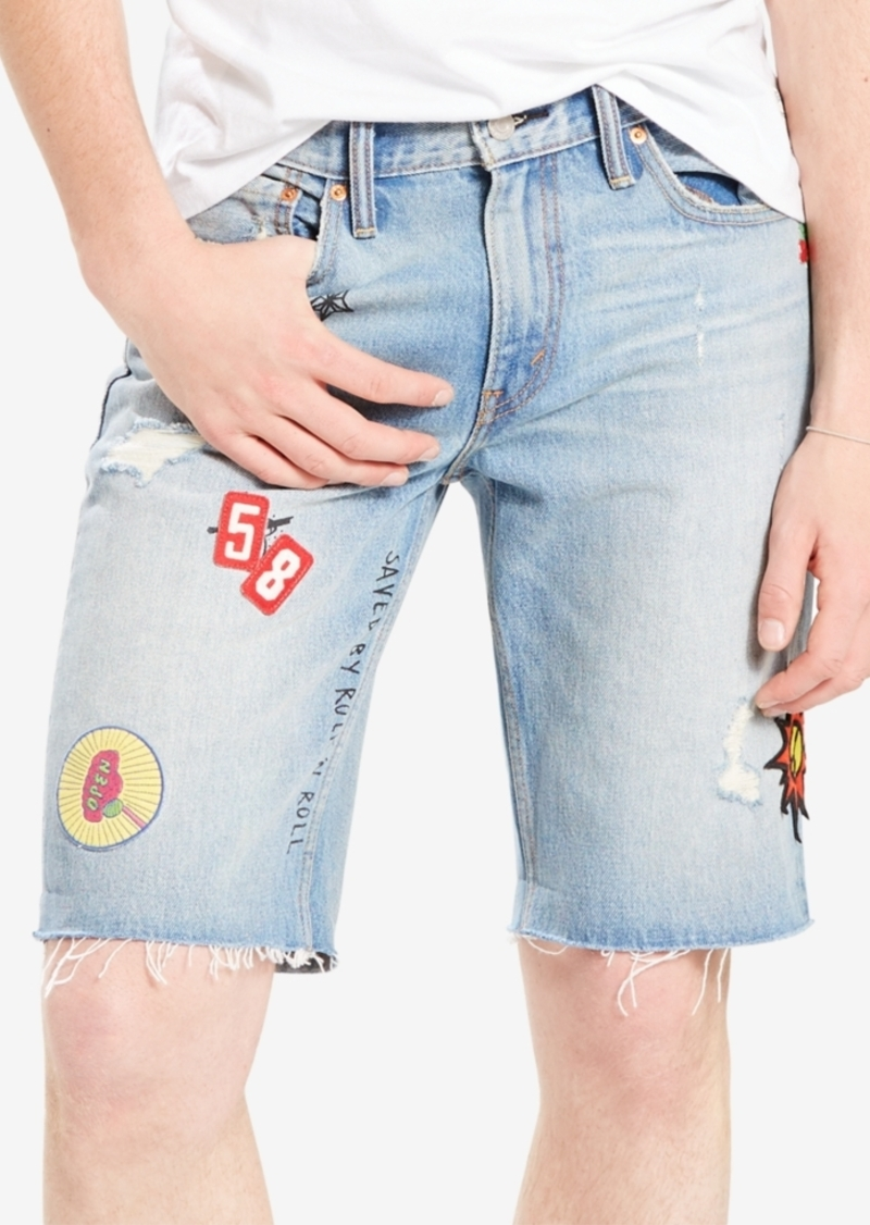 a89cf468 Levi's Limited Men's Patched 511 Slim Cutoff Shorts, Created for Macy's
