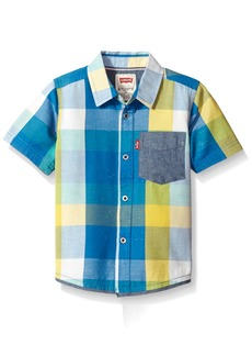 Levi's Boys' Short Sleeve Button-up Shirt