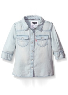 Levi's Girls' 3/4 Sleeve Western Shirt 6X