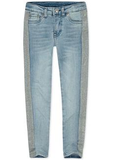 Levi's Little Girls 710 Super Skinny Glitter-Stripe Jeans