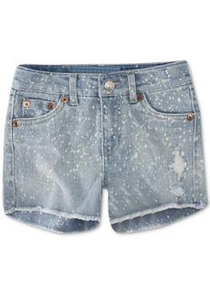 Levi's Little Girls Colorblocked Zipper Shorts