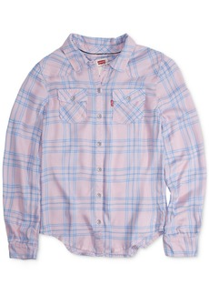 Levi's Toddler Girls Cotton Plaid Shirt
