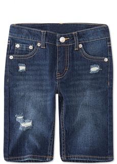 Levi's Little Girls Distressed Denim Bermuda Shorts