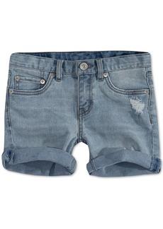 Levi's Little Girls Distressed Denim Shorts