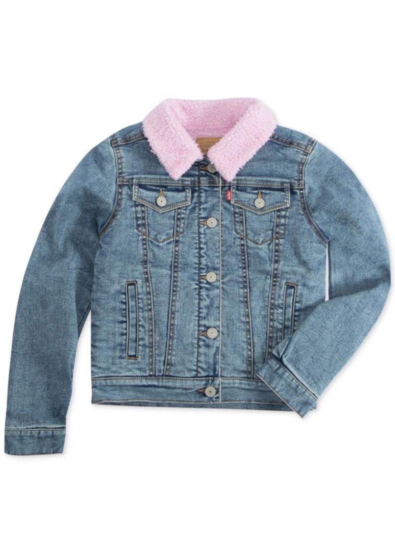Levi's Little Girls Faux-Sherpa Lined Denim Jacket