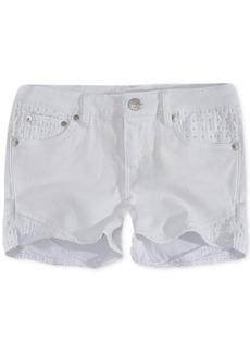 Levi's Little Girls Floral Embroidered Denim Shorts