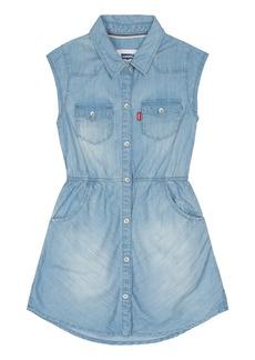 Levi's Girls' Western Shirt Dress 6