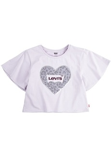Levi's Toddler Girls Sequin Logo Sparkle Knit T-Shirt