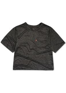 Levi's Toddler Girls Striped Logo-Sleeve Cropped Cotton T-Shirt