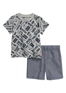 Levi's® Logo Graphic Tee & Shorts Set (Baby)
