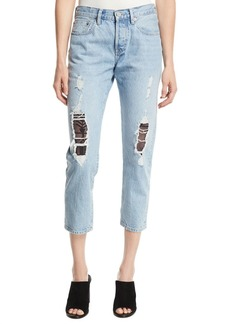 Levi's Made & Crafted 501 Cropped Taper Distressed Jeans