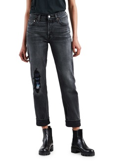 Levi's Made & Crafted 501 High-Rise Straight-Leg Distressed Jeans