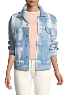 Levi's Boxy Shibori Denim Trucker Jacket