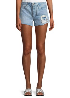 Levi's Made & Crafted High-Rise Distressed Denim Shorts