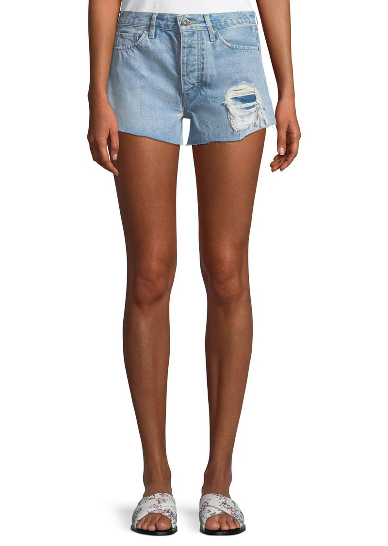 b3e392f2cb Levi's High-Rise Distressed Denim Shorts