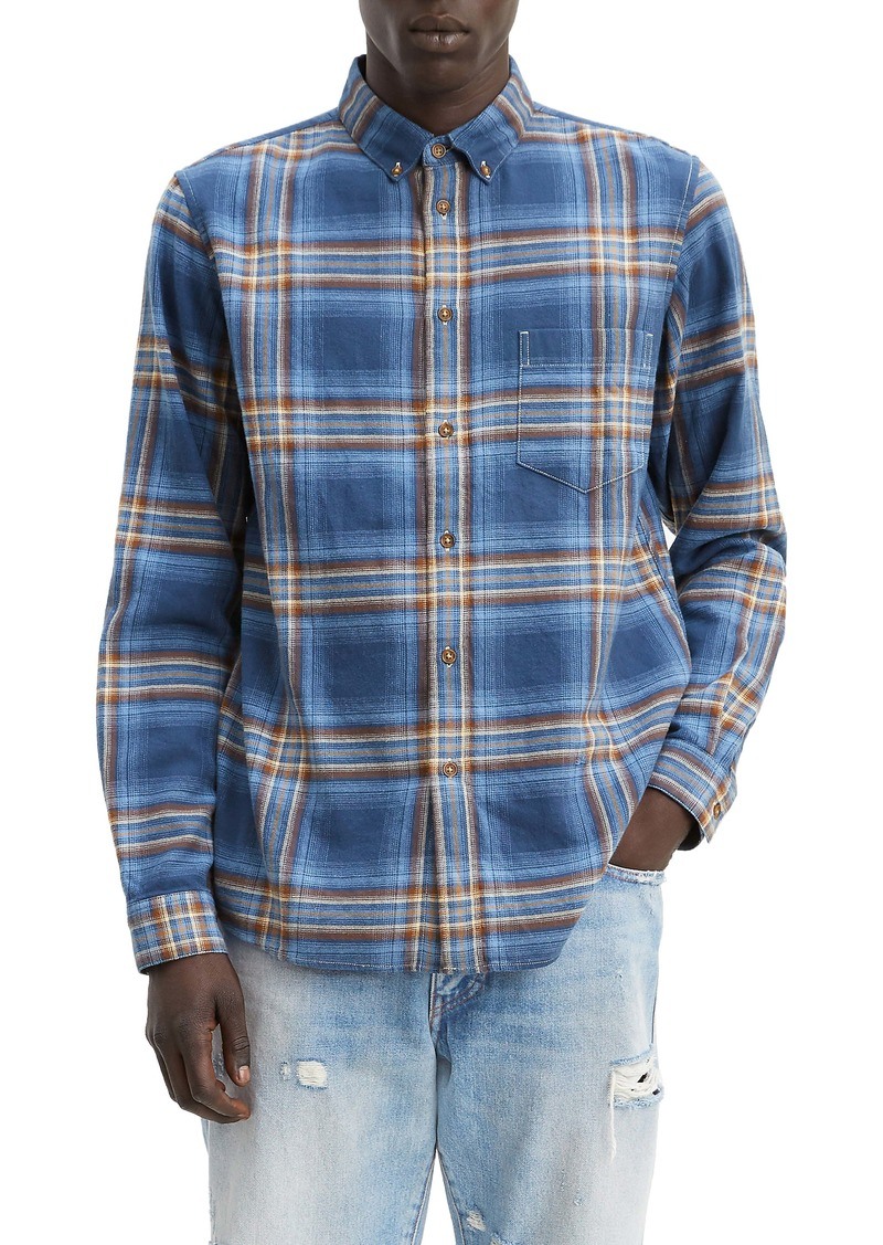 Levi's® Made & Crafted™ Regular Fit Plaid Button-Down Shirt