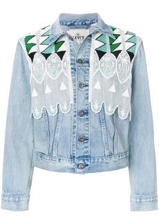 Levi's: Made & Crafted short embroidered denim jacket - Blue