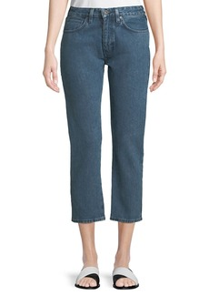 Levi's Made & Crafted Slim Cropped Straight-Leg 2-Tone Jeans
