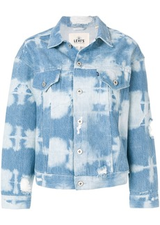 Levi's: Made & Crafted tie dye denim jacket - Blue