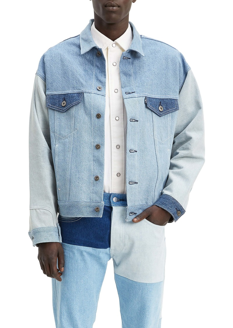 Levi's® Made & Crafted™ Type III Oversize Mix Denim Trucker Jacket