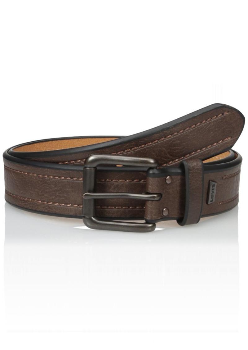 Levi's Men's 1 3/8-Inch Bridle Belt with Stitch DetailingSmall