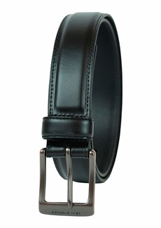 Levi's Men's 100% Leather Belt with Prong Buckle Bridle  Center