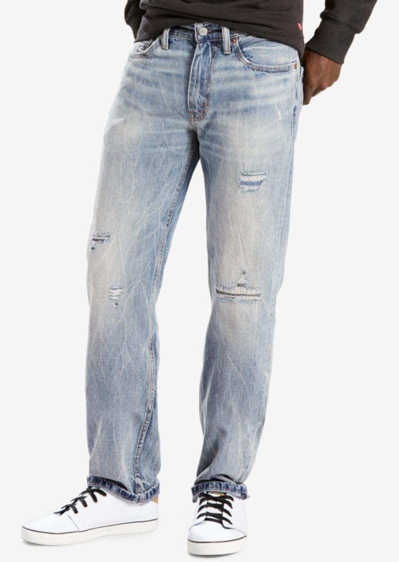 75d43666472 Levi's Levi's Men's 514 Straight Fit Ripped Jeans | Jeans