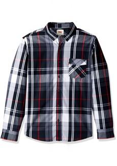 Levi's Men's Amway Plaid Shirt black small