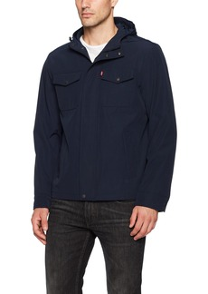Levi's Men's Arctic Cloth Hooded Rain Slicker Jacket
