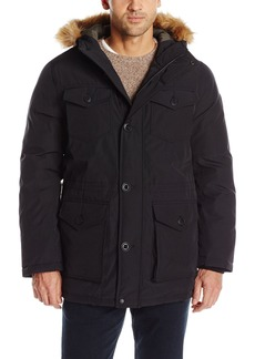 Levi's Men's Arctic Cloth Snorkel Coat with Removable Faux Fur Trimmed Hood  L