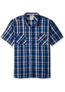 Levi's Men's Barrington Short Sleeve Plaid Shirt true blue