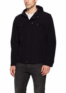 Levi's Men's Big and Tall Arctic Cloth Hooded Rain Slicker Jacket  3X