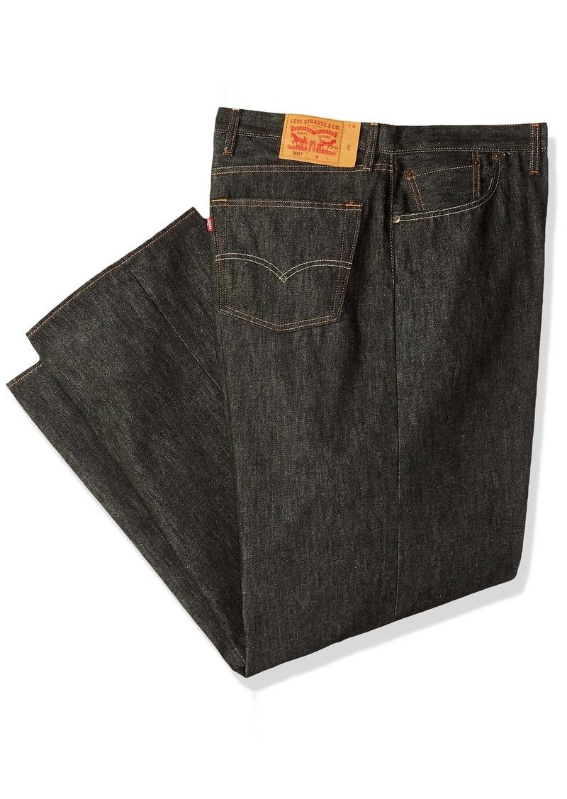 c253e6977c9 Men's Big and Tall Big & Tall 501 Original Shrink-to-Fit Jean Black Rigid  STF/Natural Fill. Levi's