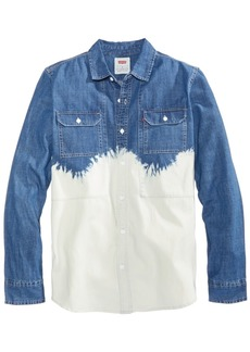 Levi's Men's Bleach Dip Denim Shirt