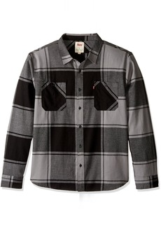 Levi's Men's Bookie Long Sleeve Flannel Woven Shirt