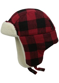 Levi's Men's Buffalo Plaid Trapper Hat with Sherpa Lining  Small/Medium