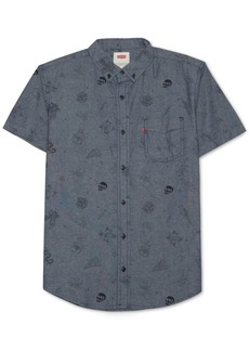 Levi's Men's Chambray Line-Drawing Shirt
