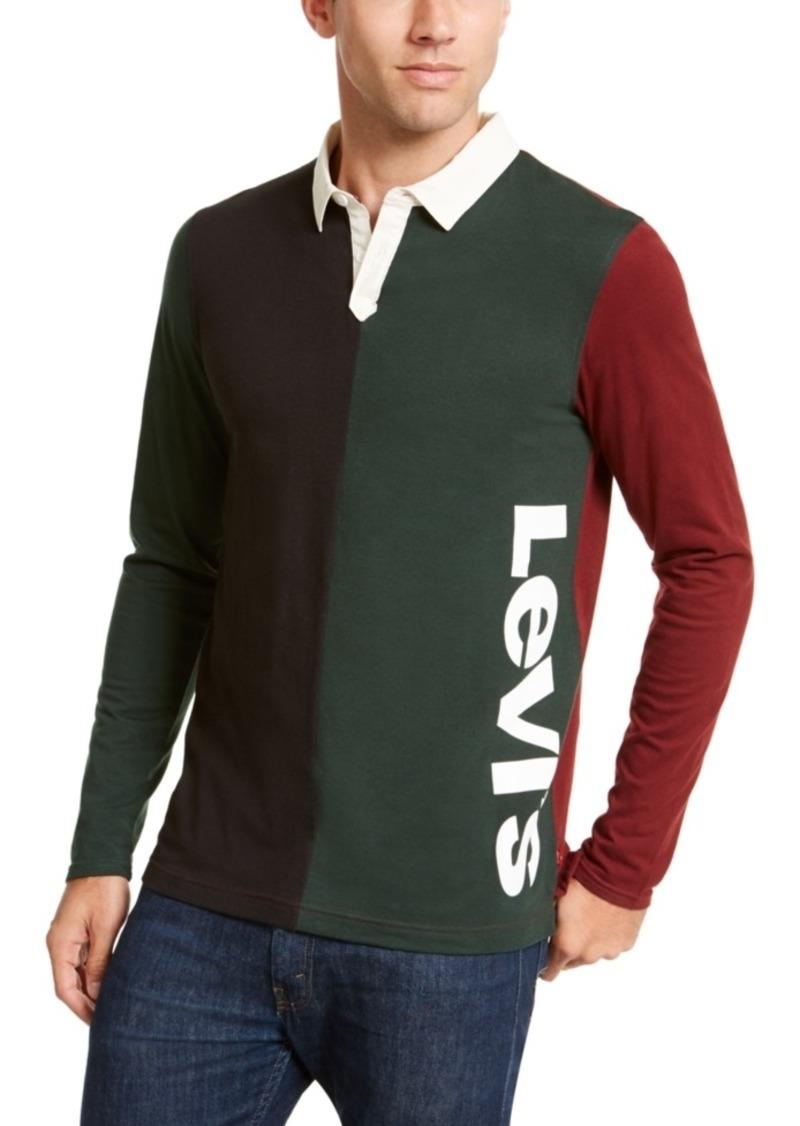 Levi's Men's Colorblocked Long-Sleeve Polo Shirt