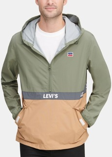 Levi's Men's Colorblocked Water Resistant Popover Jacket