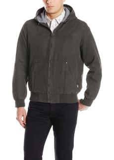 Levi's Men's Cotton Canvas Hooded Bomber Jacket