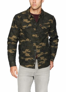 Levi's Men's Cotton Diamond Quilted Shirt Jacket