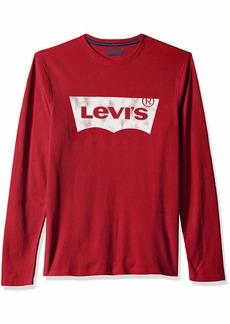 Levi's Men's Covington2 Thermal Knit Shirt crimson X Large
