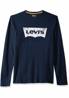 Levi's Men's Covington2 Thermal Knit Shirt sky captain/new logo