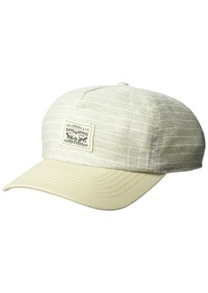 Levi's Men's Denim Striped Baseball Camp Hat with Woven Patch